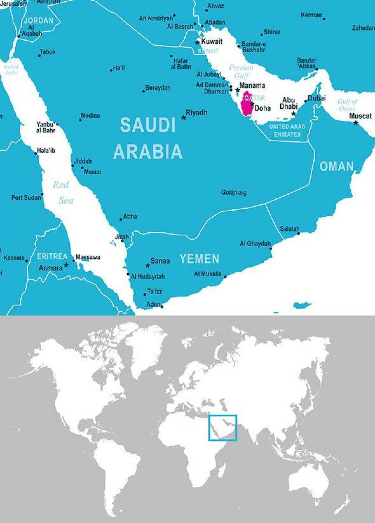 Cartina Asia Occidentale.Qatar Posizione Sulla Mappa Mappa Del Qatar Posizione Asia Occidentale Asia